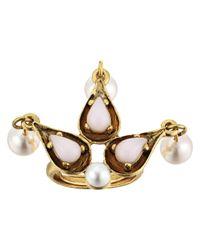 Oscar de la Renta | Multicolor Cabochon Pearl Stone And Pearl Ring | Lyst