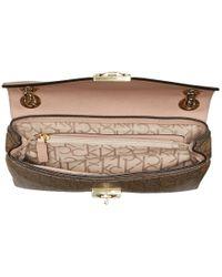 Calvin Klein | Brown Alexis Monogram Shoulder Bag | Lyst