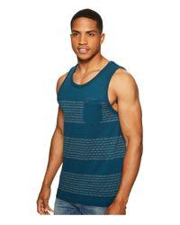 Volcom - Blue Banded Stripe Tank Top for Men - Lyst