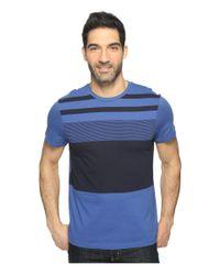 Calvin Klein | Blue Pima Cotton Stripe Tee for Men | Lyst