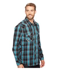 Rock And Roll Cowboy - Blue Long Sleeve Snap B2s2064 for Men - Lyst