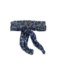 BCBGeneration   Blue Ditzy Blossom Rolled Necktie   Lyst
