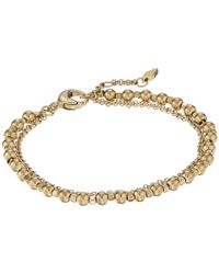 Fossil | Metallic Gold-tone Steel And Brass Double-chain Bracelet | Lyst