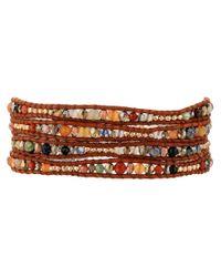 "Chan Luu | Multicolor 32"" Semi Precious Stone And Crystal Mix Wrap Bracelet | Lyst"