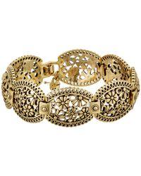 Lucky Brand | Metallic Lace Openwork Link Bracelet | Lyst