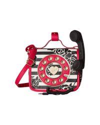 Betsey Johnson - Red Mini Phone Crossbody - Lyst