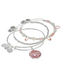 ALEX AND ANI   Metallic Because I Love You Set Of Three Bracelet   Lyst