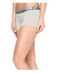 Calvin Klein - Gray Ck Id Cotton Large Waist Band Trunk - Lyst