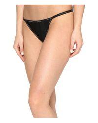 Calvin Klein   Black Sheer Marquisette String Thong   Lyst