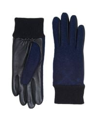 Ugg | Blue Fabric Smart Gloves With Knit Trim for Men | Lyst