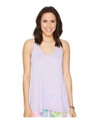 Lilly Pulitzer   Purple Luxletic Anisa Tank Top   Lyst
