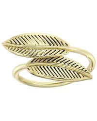 House of Harlow 1960 | Metallic Sacred Leaf Wrap Ring | Lyst