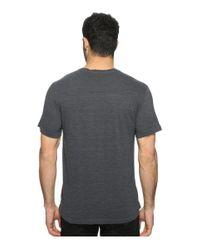 Agave Pete Short Sleeve Crew Neck Tri-blend Stripe (ombre Blue) Clothing for men