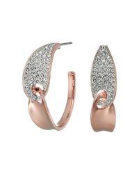 Swarovski   Multicolor Guardian Hoop Pierced Earrings   Lyst