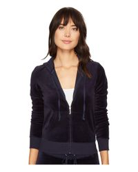 Juicy Couture | Blue Robertson Velour Jacket | Lyst
