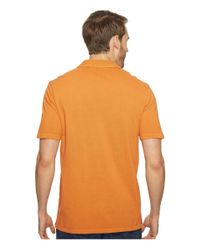 Mod-o-doc - Orange Pescadero Short Sleeve Johnny Collar Polo for Men - Lyst