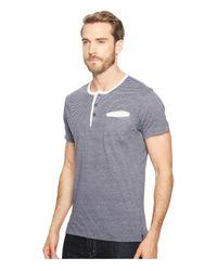 Alternative Apparel - Gray Eco Jersey Yarn-dye Stripe Offshore Henley for Men - Lyst