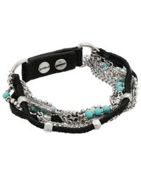 Lucky Brand - Metallic Turquoise Layer Bracelet - Lyst