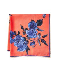 Vince Camuto - Multicolor Sepia Rose Square Scarf - Lyst