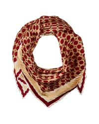 Vince Camuto - Multicolor Military Dot Pleated Square Scarf - Lyst