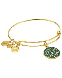 ALEX AND ANI | Metallic Words Are Powerful Joy To The World Bangle | Lyst