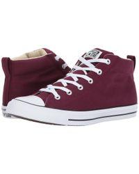 Converse | Purple Chuck Taylor All Star Street Mid | Lyst