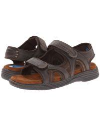 Nunn Bush - Brown Randall Two-strap Sandal for Men - Lyst