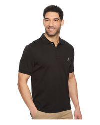 Nautica - Black Short Sleeve Solid Interlock Polo for Men - Lyst