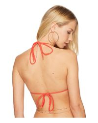 Luli Fama - Red Cosita Buena Wavey Triangle Bikini Top (black) Women's Swimwear - Lyst