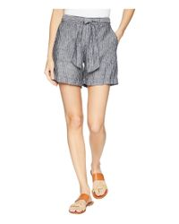 Lauren by Ralph Lauren - Multicolor Linen Shorts (polo Black/soft White) Women's Shorts - Lyst