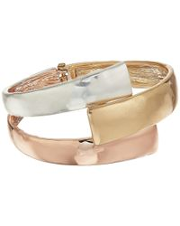 Robert Lee Morris - Multicolor Bybass Bangle Bracelet (tri-tonal) Bracelet - Lyst