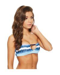 Splendid - Blue Tie-dye Stripe Bandeau - Lyst