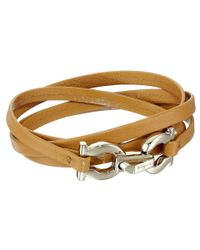 Ferragamo - Brown 344763 Gancini Bracelet - Lyst