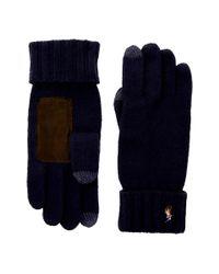 Polo Ralph Lauren - Blue Signature Merino Touch Gloves for Men - Lyst