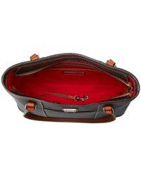 Dooney & Bourke - Brown Pebble Leather New Colors Small Lexington Shopper (strawberry/tan Trim) Tote Handbags - Lyst