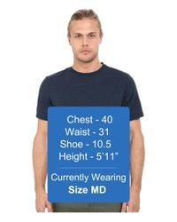 Threads For Thought - Blue Baseline Tri-blend Crew Tee for Men - Lyst