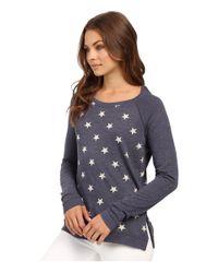 Alternative Apparel - Blue Locker Room Printed Eco-jersey Pullover - Lyst