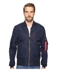 Alpha Industries - Blue Ma-1 Skymaster Flight Jacket (black) Men's Coat for Men - Lyst