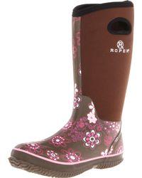 Roper - Pink Flower Barn Boot - Lyst