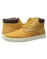 Timberland - Natural Groveton Plain Toe Chukka Leather And Fabric for Men - Lyst