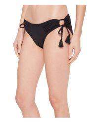 Vince Camuto - Black Riviera Solids Side Tie Cheeky Bikini Bottom - Lyst