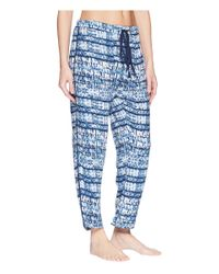 Splendid - Blue Woven Crop Pajama Pants (deep Pacific) Women's Pajama - Lyst