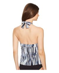 Athena - Blue Horizon Molded Cup Tankini Top - Lyst