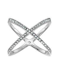 Michael Kors - Metallic Brilliance Pave X Ring (gold) Ring - Lyst