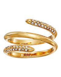 Rebecca Minkoff   Metallic Pave Multi Row Ring   Lyst