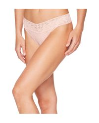 Hanky Panky - Pink Signature Lace Original Rise Thong - Lyst