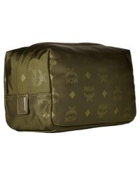 MCM - Green Dieter Monogrammed Nylon Small Cosmetic Pouch - Lyst