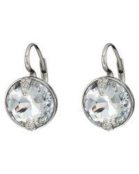 Swarovski - White Globe Pierced Earrings - Lyst