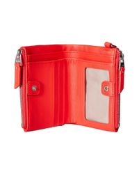 Tumi Pink Voyageur Double Zip Wallet (ocean Blue) Wallet Handbags
