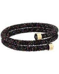 Swarovski - Black Double Crystaldust Bracelet - Lyst